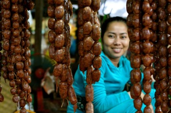 Sausages in Siem Reap