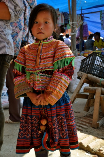 Flower Hmong girl at Bac Ha Sunday market