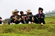 Black Hmong women