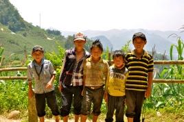Group of boys near Ban Pho Village