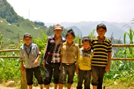 Group of boys near Ban Pho Village
