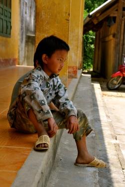 Boy in Ban Pho village