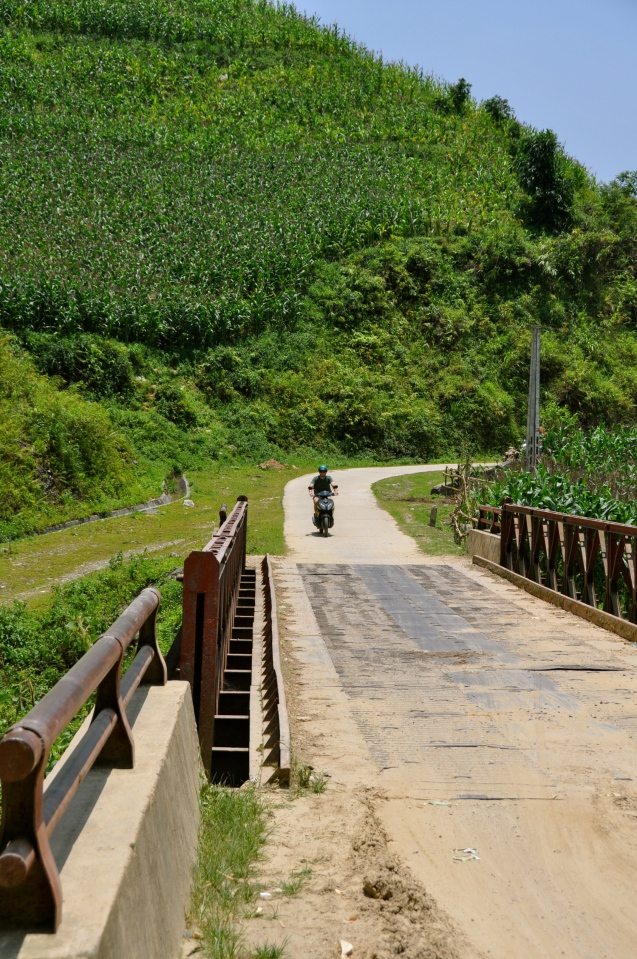 Motorbiking near Bac Ha