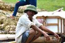 Vietnamese floating vendor