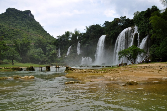 The Vietnamese side of the falls