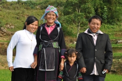 Zazaa with her mother, sister, and father