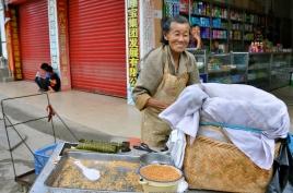 Breakfast vendor in Daxin