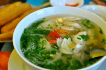 Pho Ga: rice noodle soup with chicken