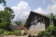 Hmong laundry drying