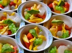Hoa Qua:fresh fruit with coconut milk, condensed milk and shaved ice