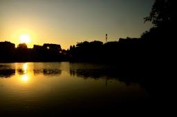Hoan Kien Lake at sunset