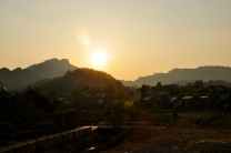 Sunset over Bac Ha