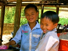 Two boys at Can Cau Market