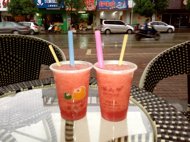 Watermelon shakes at TeaDaYe