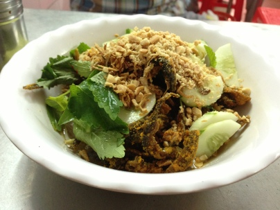 Mien Tron: vermicelli and eel salad