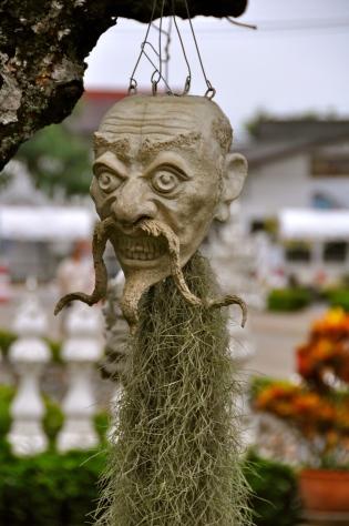 Bamboo root carving at Wat Rong Khun