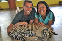 With one of the smallest tigers