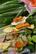 Soup kits: ginger, kaffir lime leaves, lemongrass, etc.