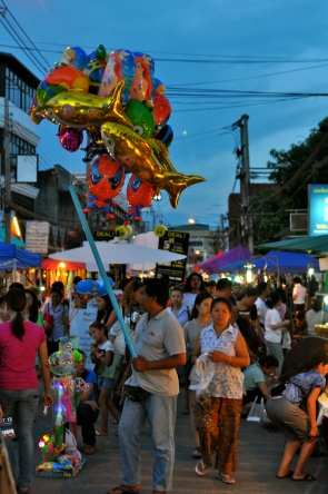 The busy walking street