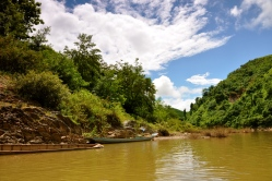 View from the boat to Muang Ngoi