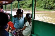 On the boat to Muang Ngoi