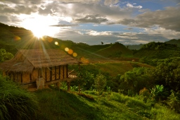Our bungalow at Bamboo Nest de Chiang Rai and the amazing view