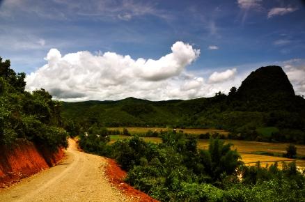 Along the walk to Bana Village