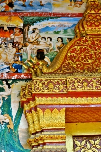 A decorated wat entry