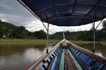 Boat ride during our trek