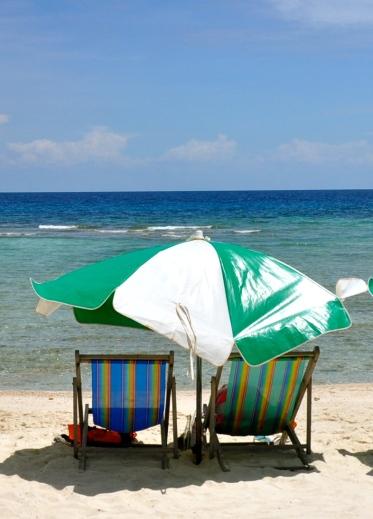Beach chairs on Nangyuan Island