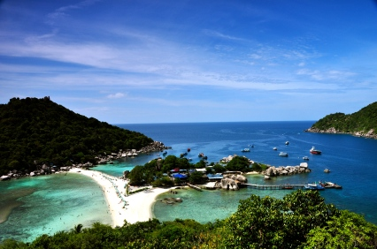 The view looking over Nangyuan Island