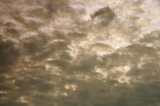 The clouds after the sunset