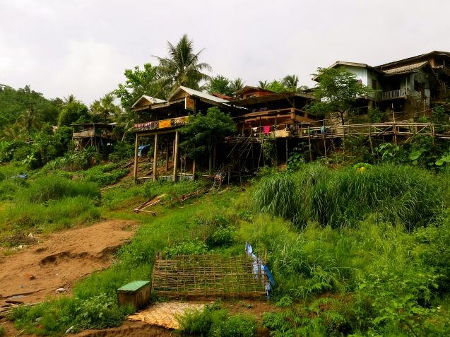 Our guesthouse above the Nam Ou River