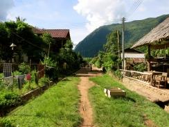 Muang Ngoi's lone street