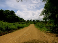 The road to Bana Village