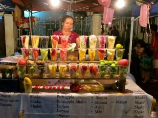 A fruit smoothie vender