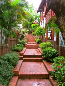 One of the many alleyways in the historic district