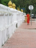 Monk taking a stroll