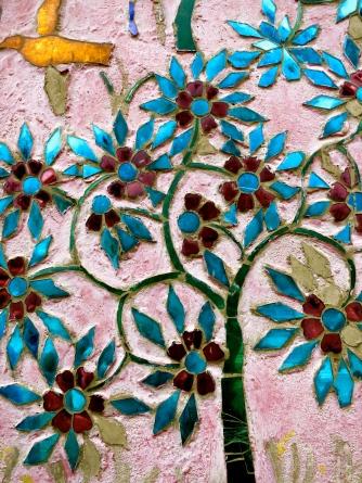Mosaic on a wat