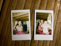 Two of the polaroids