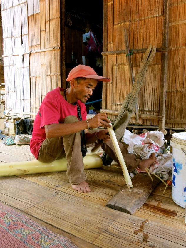 Noi preparing lunch