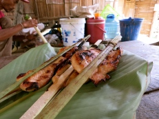 Lunch in a Lahu village during our trek
