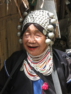 Akha woman in traditional dress