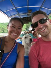 The boat ride at the end of our trek (note Noi passed out)