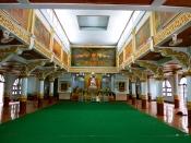 Inside the meditation temple