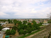 View over the Golden Triangle with Myanmar, Thailand, and Laos all visible