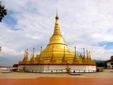 Shwedagon pagoda in Tachilek, Myanmar