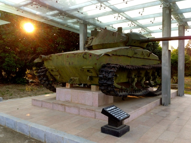 A tank from the Battle of Dien Bien Phu