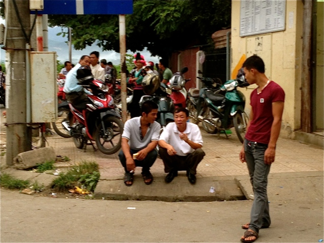 Sneakily scoping out the scammers at the Dien Bien Phu bus station
