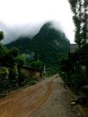 Muang Ngoi on a rainy day